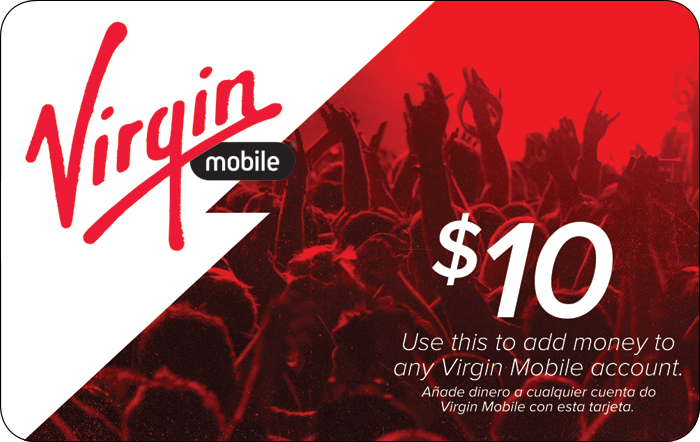 Virgin Prepaid Phone Card (e-delivery)