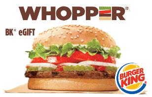 Promotion of Burger King eGift Cards