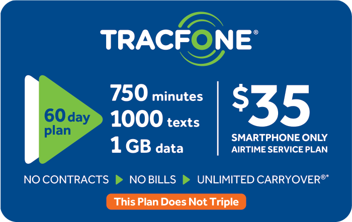 Promotion of TRACFONE $35 Prepaid Phone Cards (e-delivery)