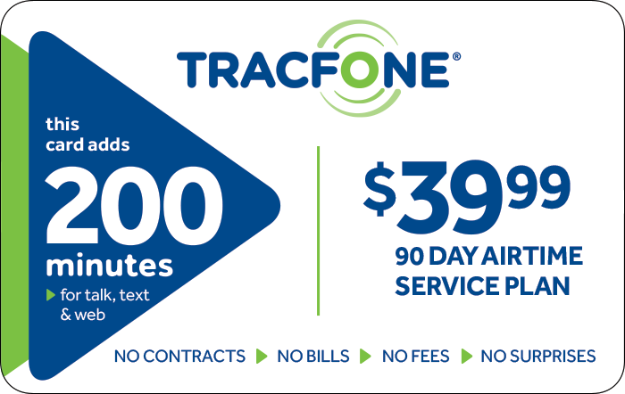 Promotion of $39.99 TRACFONE Prepaid Phone Cards (e-delivery)