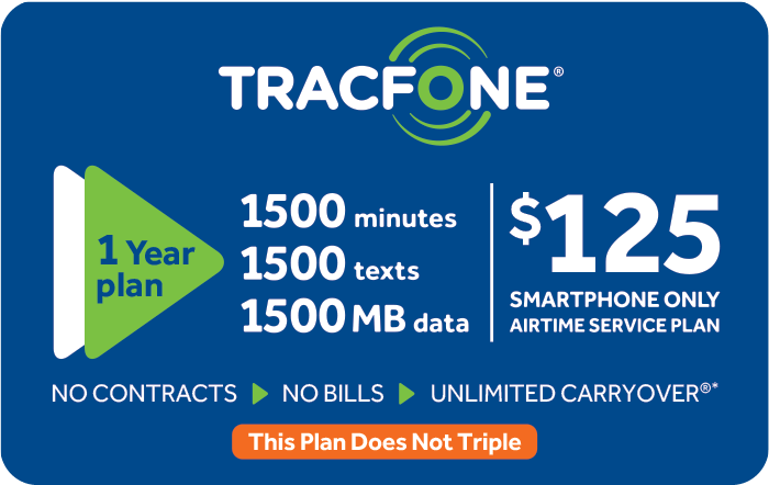 Promotion of $125 TRACFONE Prepaid Phone Cards (e-delivery)